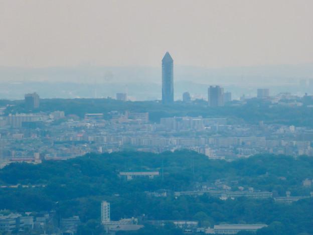 弥勒山の登山道にある休憩所から見た景色 - 8:東山スカイタワー
