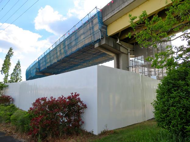 桃花台線解体撤去工事(2020年5月8日):国道155号立体交差手前の高架の撤去工事が始まる - 15