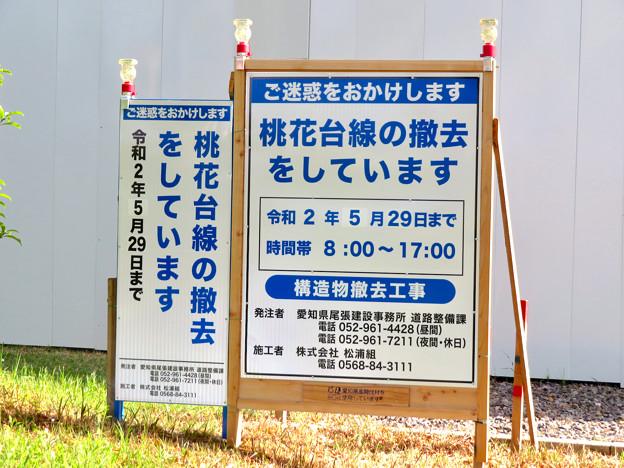 桃花台線解体撤去工事(2020年5月8日):国道155号立体交差手前の高架の撤去工事が始まる - 17