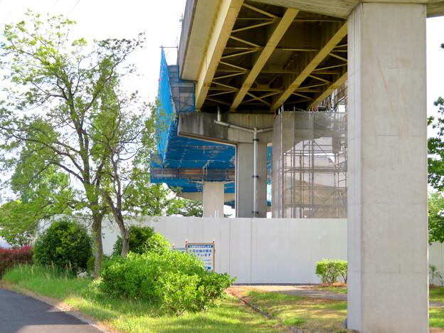 桃花台線解体撤去工事(2020年5月8日):国道155号立体交差手前の高架の撤去工事が始まる - 18