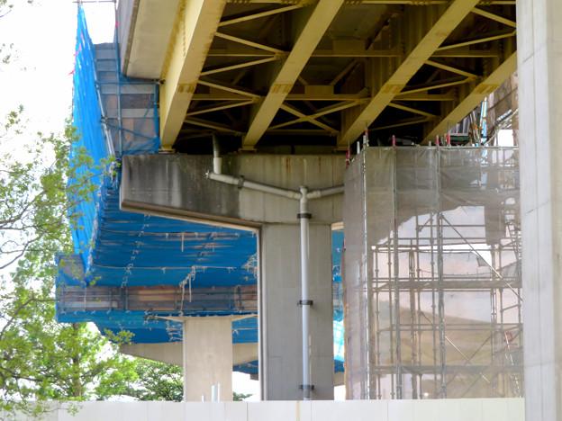 桃花台線解体撤去工事(2020年5月8日):国道155号立体交差手前の高架の撤去工事が始まる - 19