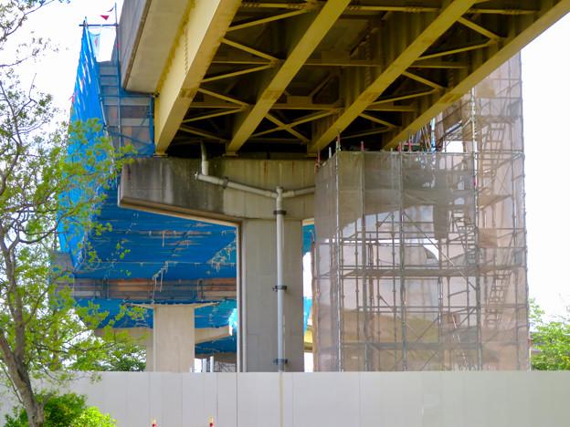 桃花台線解体撤去工事(2020年5月8日):国道155号立体交差手前の高架の撤去工事が始まる - 21