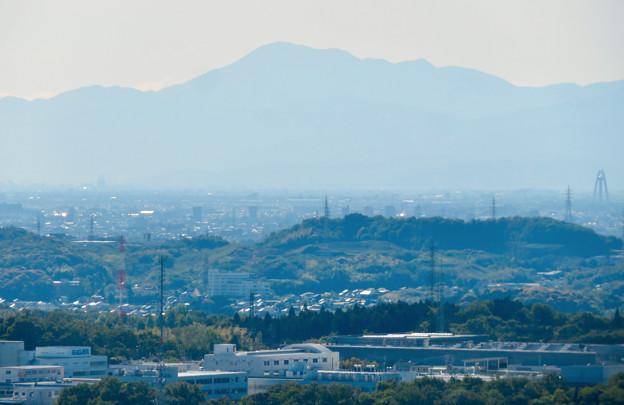 Photos: 西高森山展望台から見た景色 - 6:伊吹山とツインアーチ138