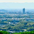 Photos: 西高森山展望台から見た景色 - 7:小牧山とスカイステージ33