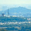 西高森山展望台から見た景色 - 9:桃花台中央公園と小牧山