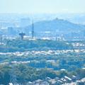 西高森山展望台から見た景色 - 10:桃花台中央公園と小牧山