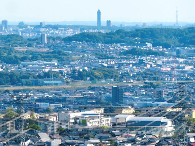 西高森山展望台から見た景色 - 17:東山スカイタワー