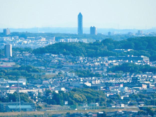西高森山展望台から見た景色 - 18:東山スカイタワー