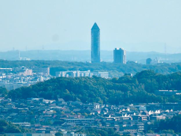 西高森山展望台から見た景色 - 19:東山スカイタワー