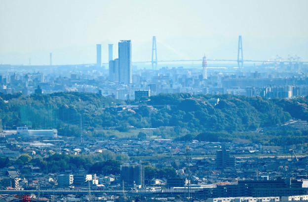 西高森山展望台から見た景色 - 20:たぶん名港中央大橋