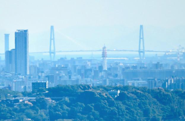 西高森山展望台から見た景色 - 21:たぶん名港中央大橋
