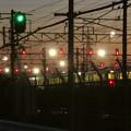 Photos: 夕暮れ時の神領車両区 - 2