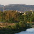 Photos: 庄内川沿いの上島公園前から見た高座山