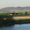 Photos: 庄内川沿いの上島公園前から見た春日井三山 - 1