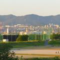 Photos: 庄内川沿いの上島公園前から見た春日井三山 - 2