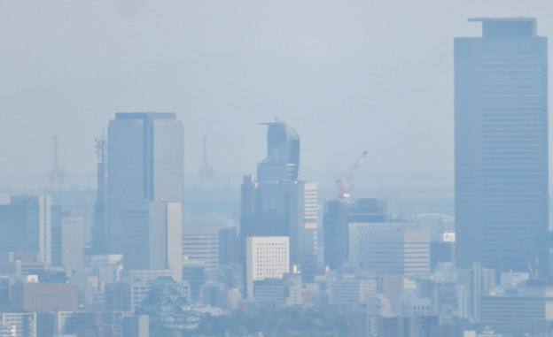 尾張白山社から見た景色 - 3:名駅ビル群