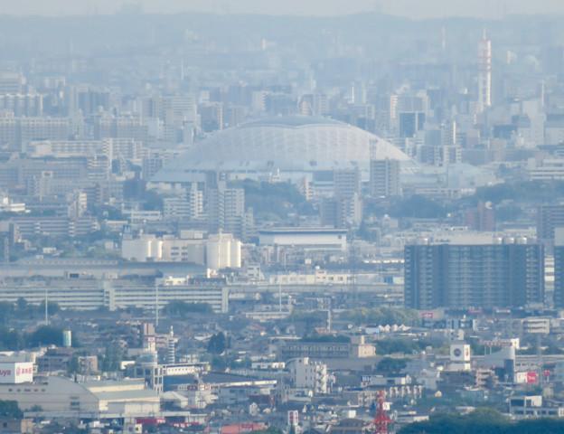 尾張白山社から見た景色 - 4:ナゴヤドーム