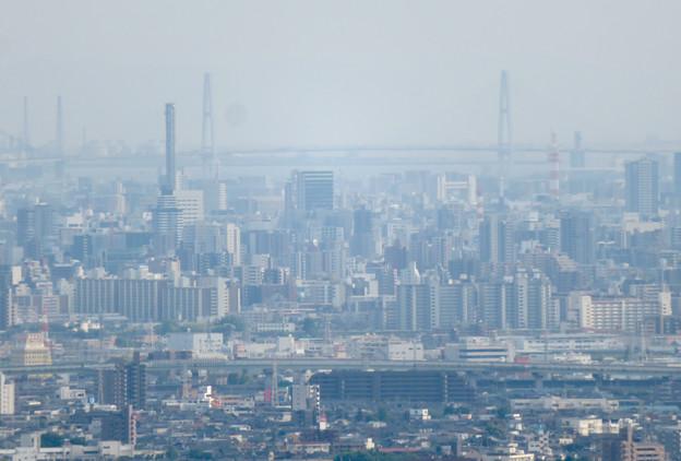 尾張白山社から見た景色 - 6:名港中央大橋