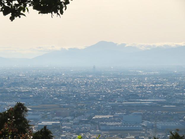 本宮山頂上から見える景色 - 1:伊吹山とツインアーチ138
