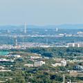 本宮山頂上から見える景色 - 7:瀬戸デジタルタワーと愛・地球博記念公園の大観覧車