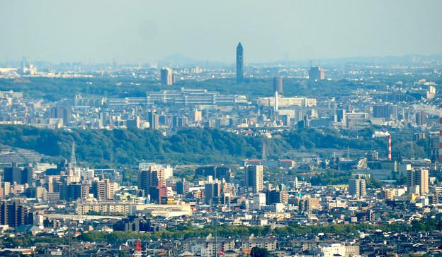 本宮山頂上から見える景色 - 14:東山スカイタワー