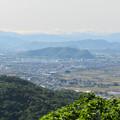 本宮山頂上手前の展望スペースから見た景色 - 2:伊木山