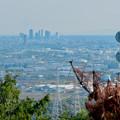 Photos: 本宮山頂上手前の雨宮社から見た景色 - 17:名駅ビル群