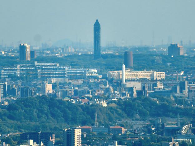 本宮山頂上手前の雨宮社から見た景色 - 21:東山スカイタワー