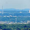 Photos: 本宮山頂上手前の雨宮社から見た景色 - 22:瀬戸デジタルタワーと愛・地球博記念公園