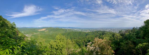 本宮山頂上手前の雨宮社から見た景色 - 34:パノラマ