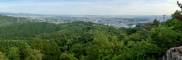 本宮山頂上手前の雨宮社から見た景色 - 35:パノラマ