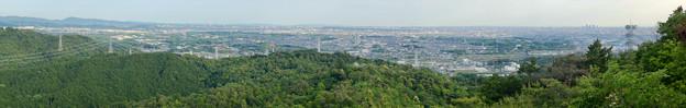 本宮山頂上手前の雨宮社から見た景色 - 36:パノラマ