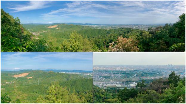 本宮山頂上手前の雨宮社から見た景色 - 37:パノラマ