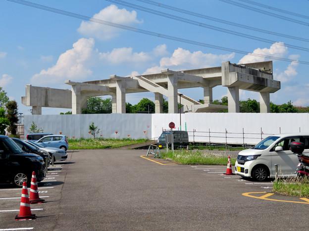 骨組みだけになっていた解体工事中の桃花台線桃花台東駅(2020年5月23日) - 12