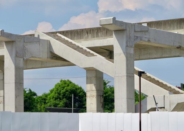 骨組みだけになっていた解体工事中の桃花台線桃花台東駅(2020年5月23日) - 13