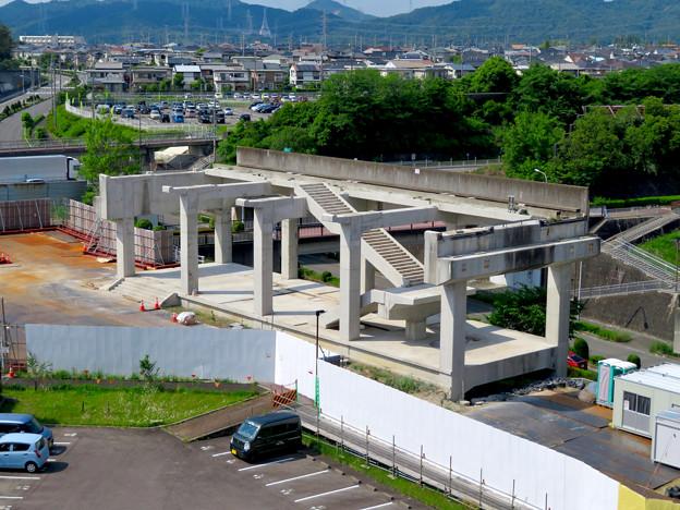 骨組みだけになっていた解体工事中の桃花台線桃花台東駅(2020年5月23日) - 15
