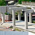 骨組みだけになっていた解体工事中の桃花台線桃花台東駅(2020年5月23日) - 18