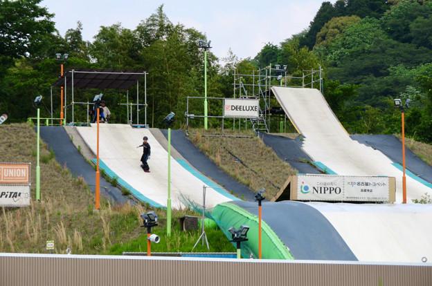 国道19号沿いにあるスキー・スノーボードジャンプ練習施設「愛知クエスト」 - 3
