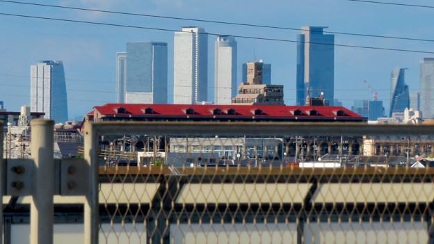 庄内新川橋から見た名駅ビル群