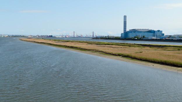 庄内新川橋から見た景色 - 4:庄内川と新川の中洲