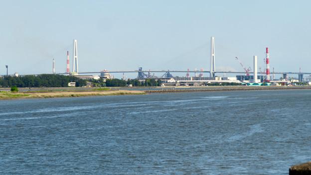 庄内新川橋から見た景色 - 8:名港中央大橋
