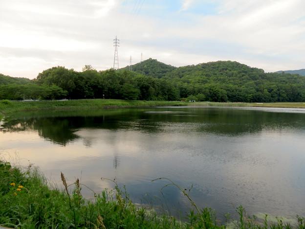 宮滝大池から見た西高森山 - 1