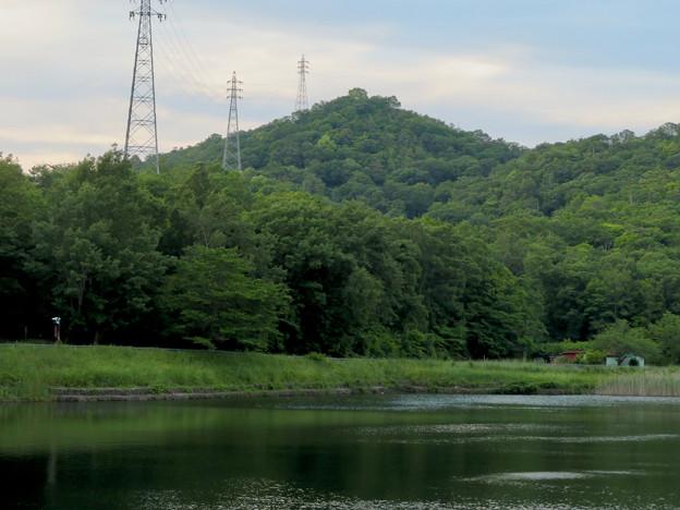 宮滝大池から見た西高森山 - 2