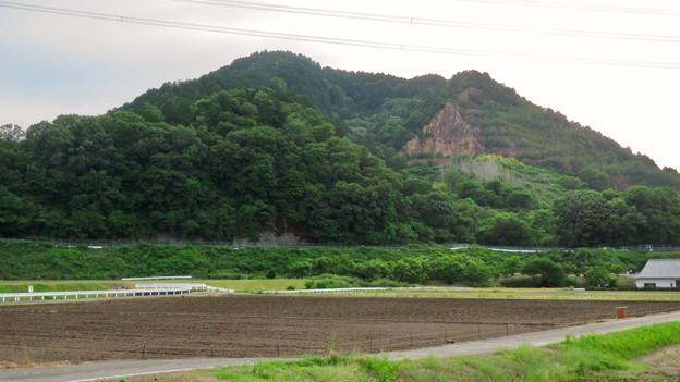 入鹿池近くのコンビニから見た本宮山 - 2