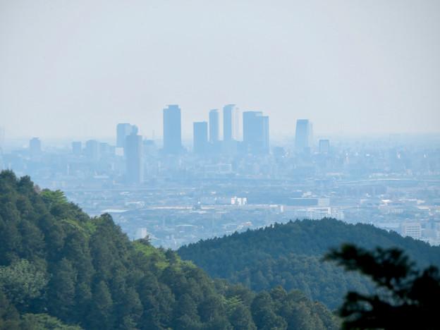 尾張富士山頂から見た景色 - 14:名駅ビル群