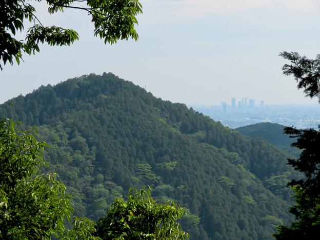 尾張富士山頂から見た景色 - 16:本宮山越しに見えた名駅ビル群