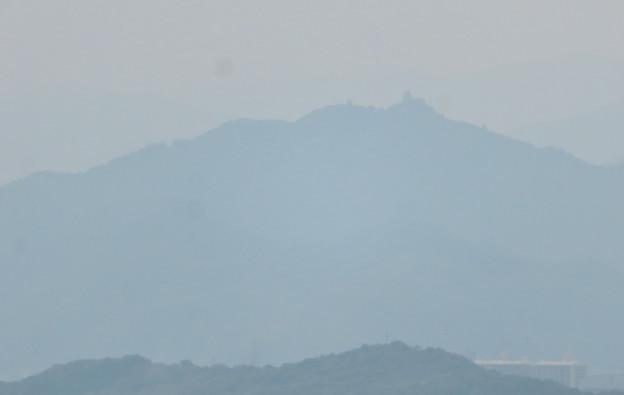 尾張富士中伏から見た景色 - 7:金華山と岐阜城
