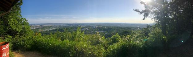 西高森山山頂から見た景色(パノラマ)