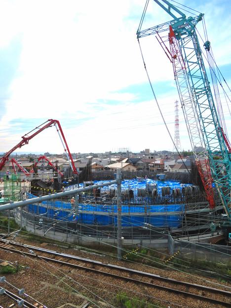 建設中のリニア中央新幹線 神領非常口(2020年6月21日) - 2