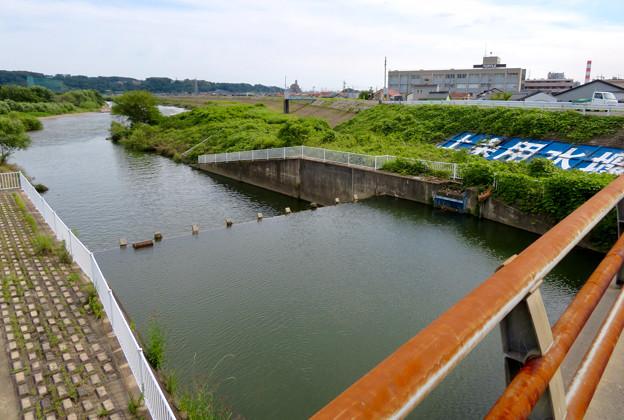 内津川・庄内川合流地点と上条用水堰 - 3
